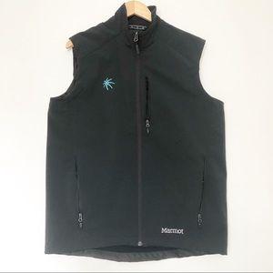 Marmot Approach black zip up vest size L